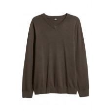 Пуловер от памук с деколте